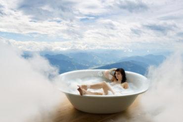 kvinna, badkar, onani, sex