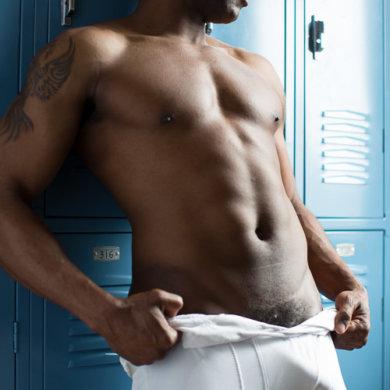 Nude male football player Marlen Boro penis